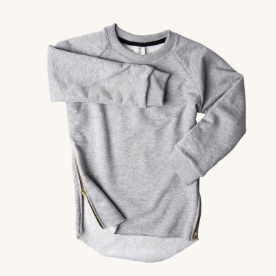 GREY ZIPPER sweatshirt