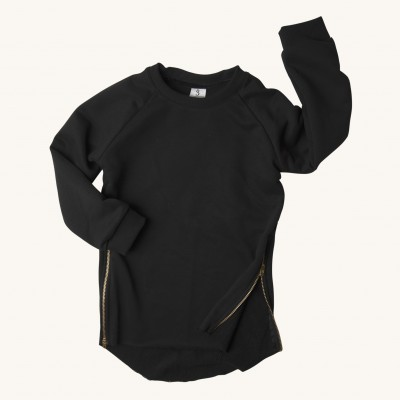 BLACK ZIPPER sweatshirt